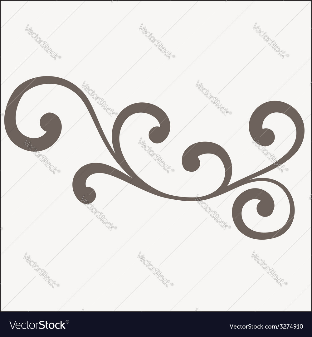 Decorative abstract floral ornament vector | Price: 1 Credit (USD $1)