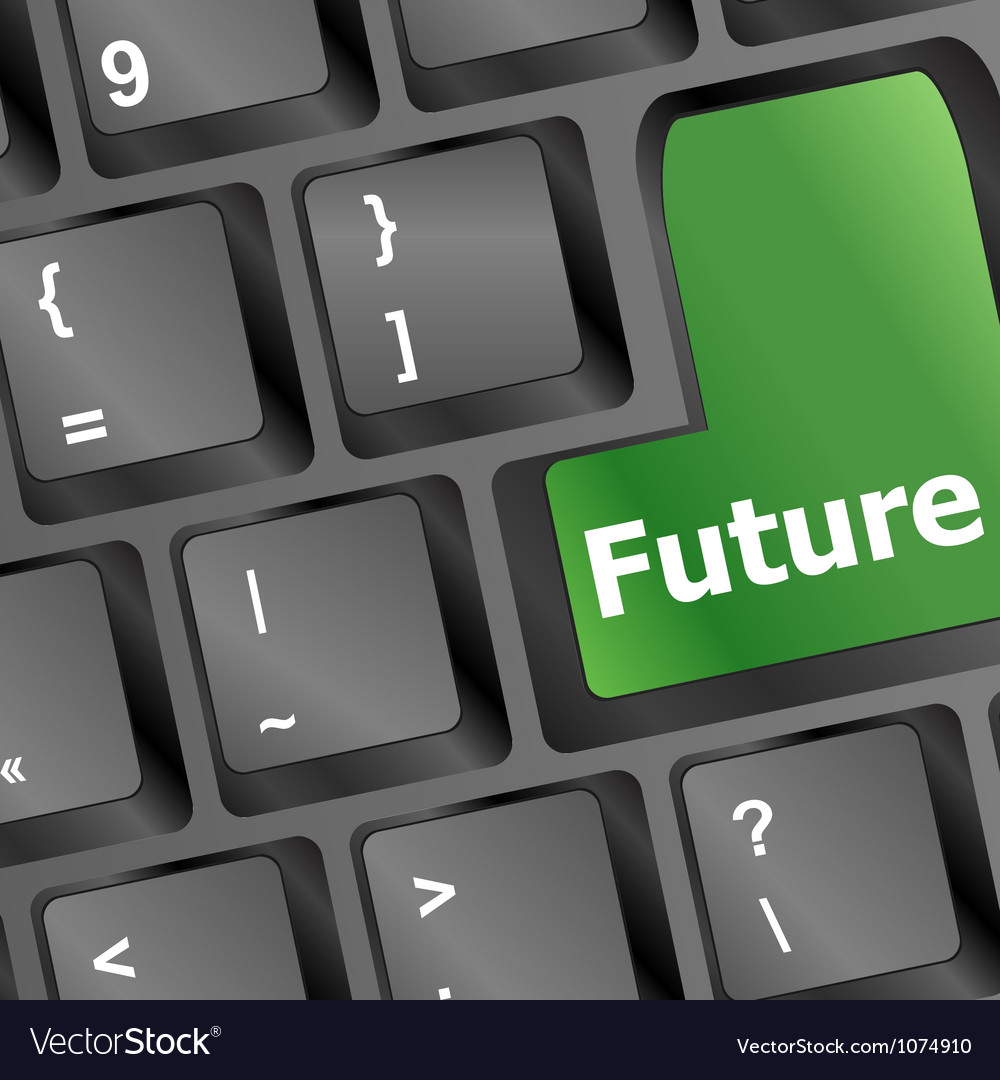 Future time concept with key on computer keyboard vector | Price: 1 Credit (USD $1)