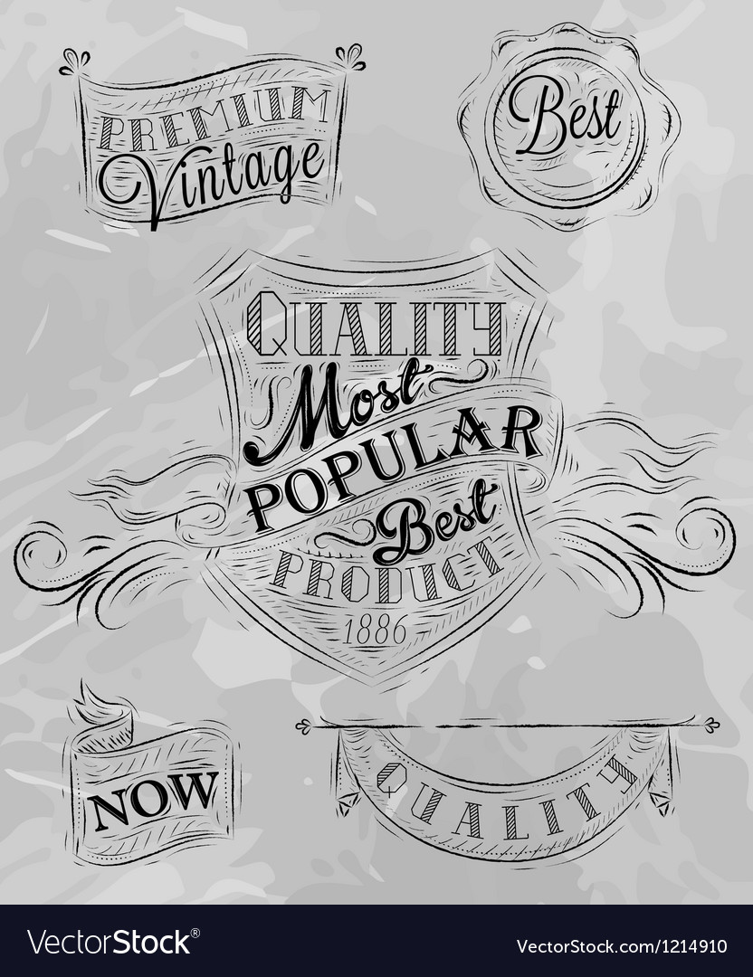 Heraldry chalk premium gray vector | Price: 1 Credit (USD $1)