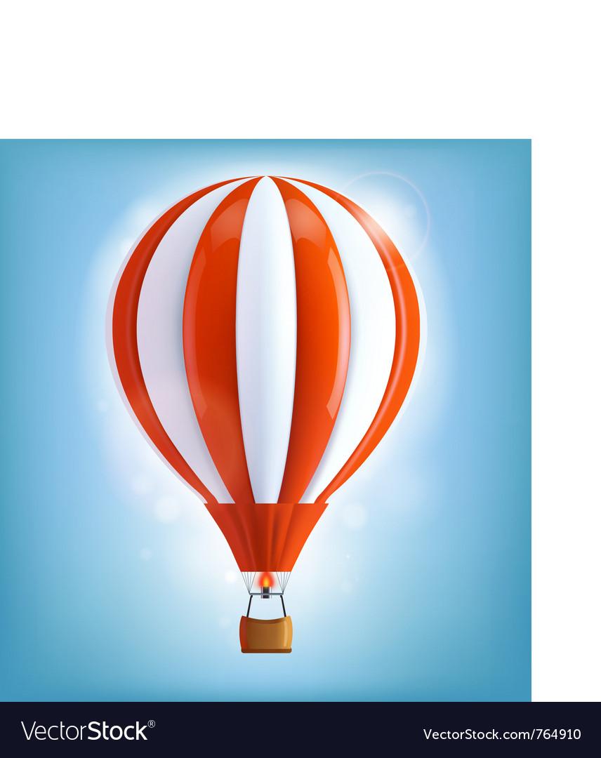 Hot air balloon vector | Price: 3 Credit (USD $3)