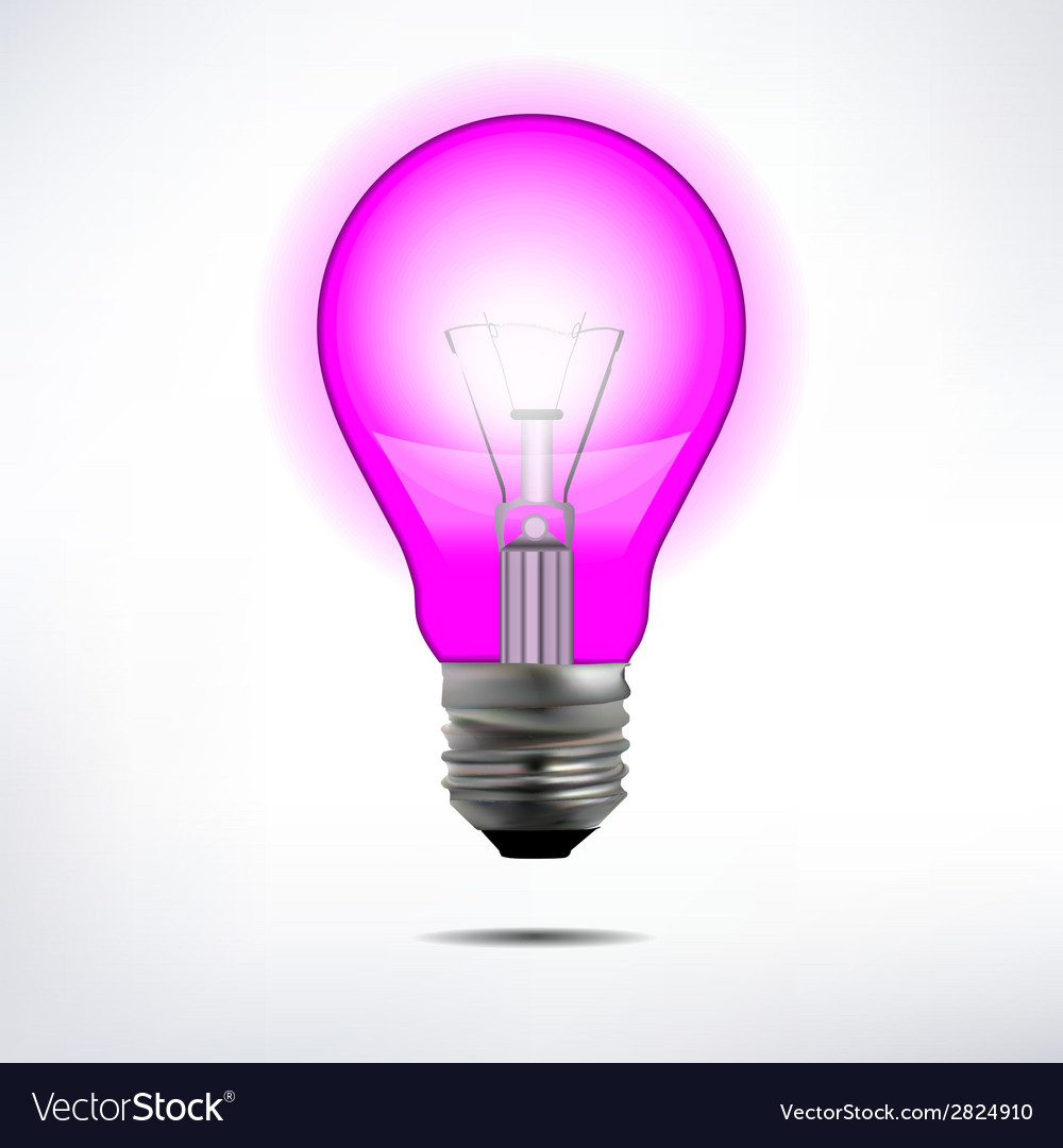 Incandescent electric lamp in format vector | Price: 1 Credit (USD $1)