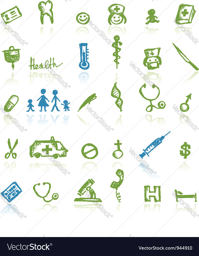 Medical icons for your design vector | Price: 1 Credit (USD $1)