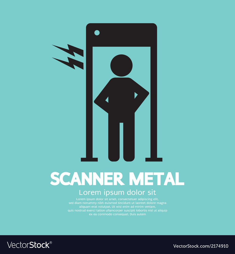 Metal scanner gate vector | Price: 1 Credit (USD $1)
