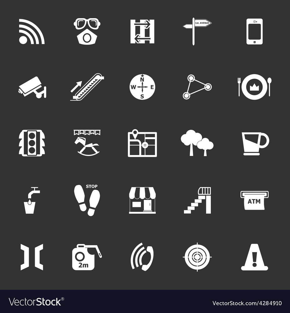 Pathway related icons on gray background vector | Price: 1 Credit (USD $1)