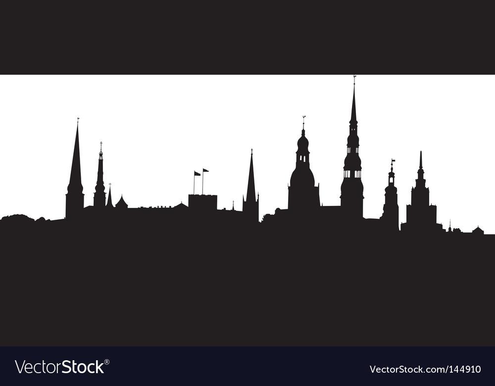 Riga panorama vector | Price: 1 Credit (USD $1)