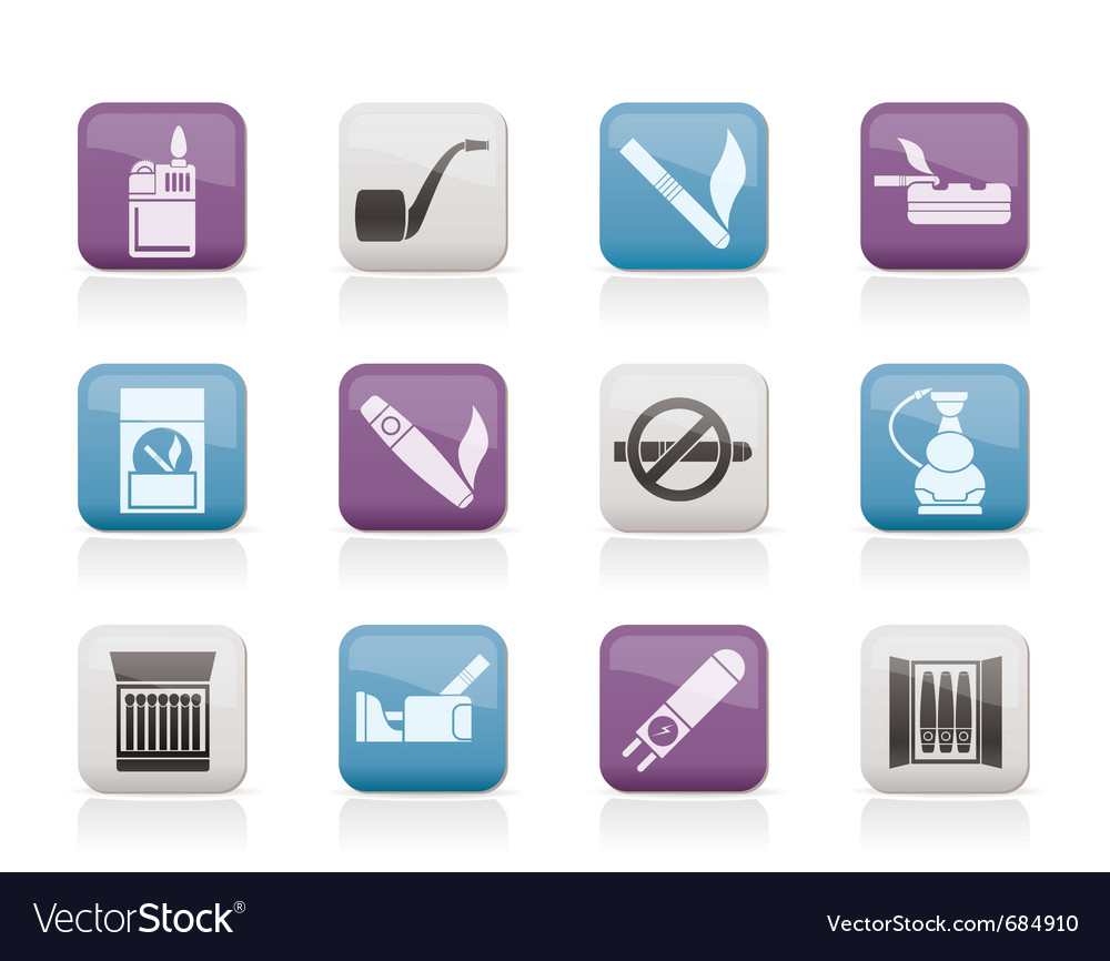 Smoking and cigarette icons vector | Price: 1 Credit (USD $1)
