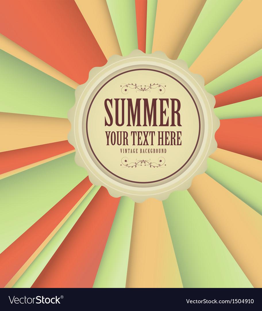 Vintage summer background vector | Price: 1 Credit (USD $1)