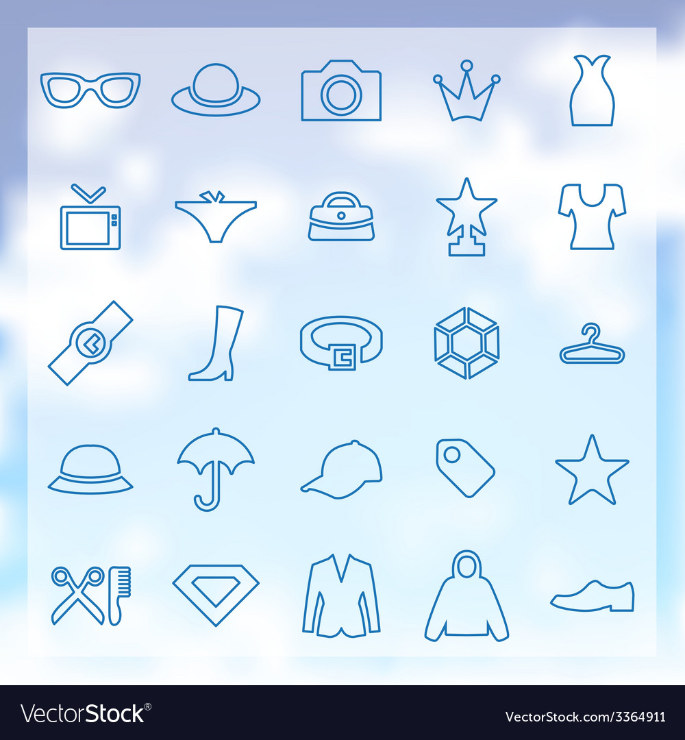 25 fashion icons vector | Price: 1 Credit (USD $1)