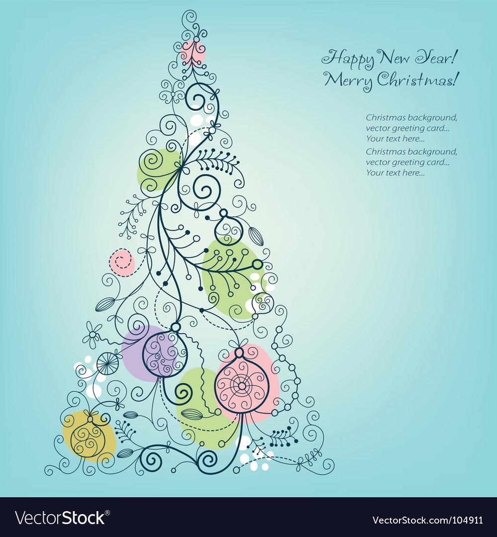 Christmas-tree vector | Price: 1 Credit (USD $1)