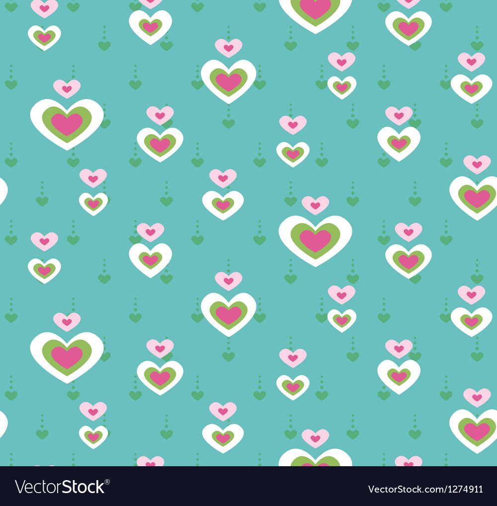 Cute heart seamless pattern vector   Price: 1 Credit (USD $1)