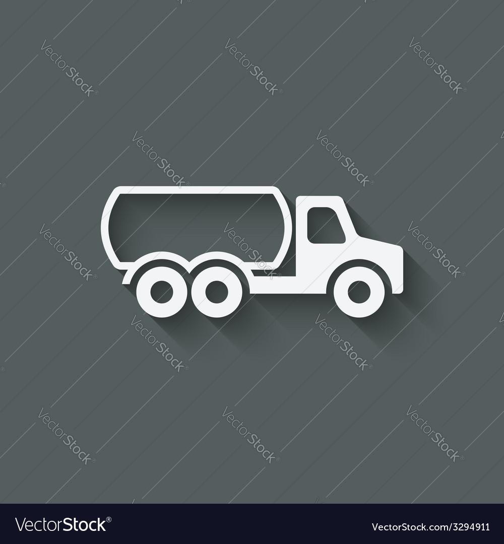Fuel truck symbol vector | Price: 1 Credit (USD $1)