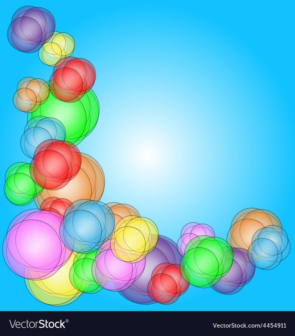 Fun bubble corner vector | Price: 1 Credit (USD $1)
