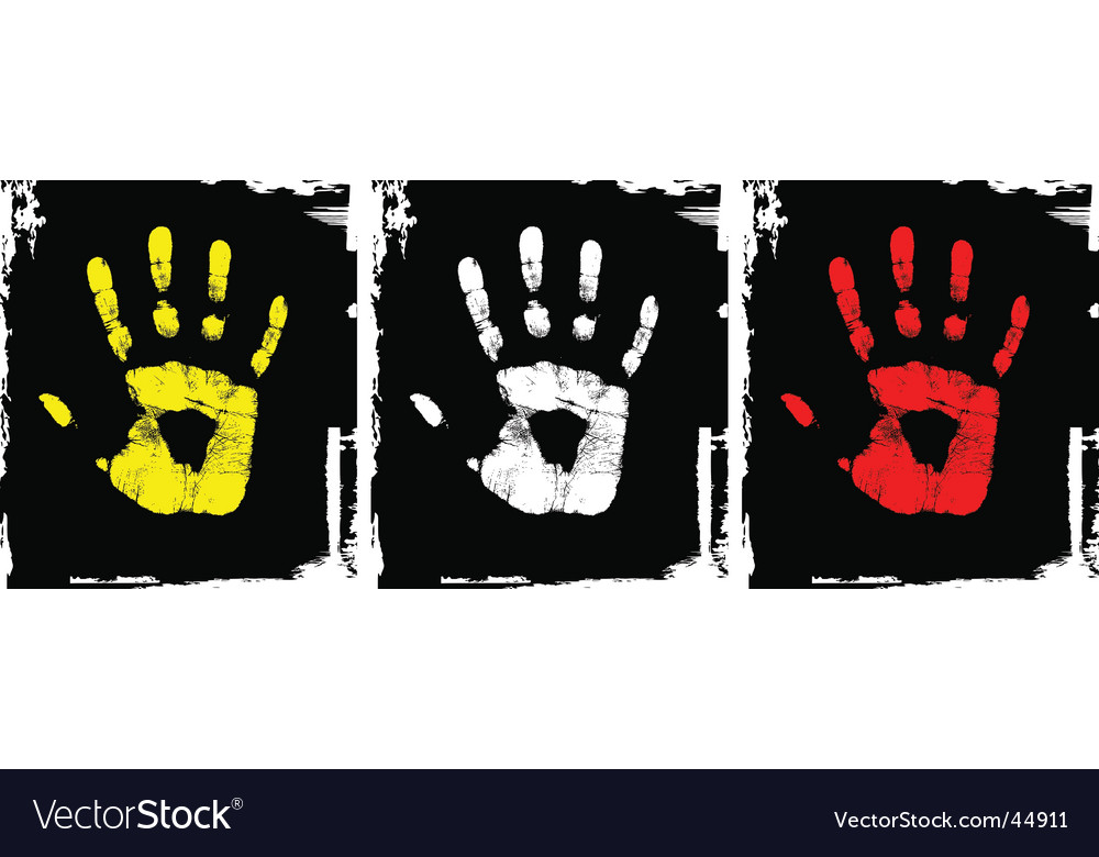 Grunge hand set vector | Price: 1 Credit (USD $1)