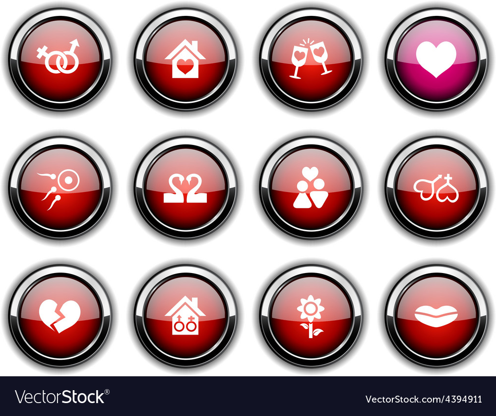 Love icons vector | Price: 1 Credit (USD $1)