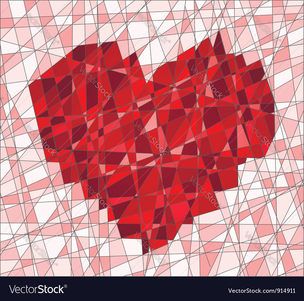 Mosaic with heart vector | Price: 1 Credit (USD $1)