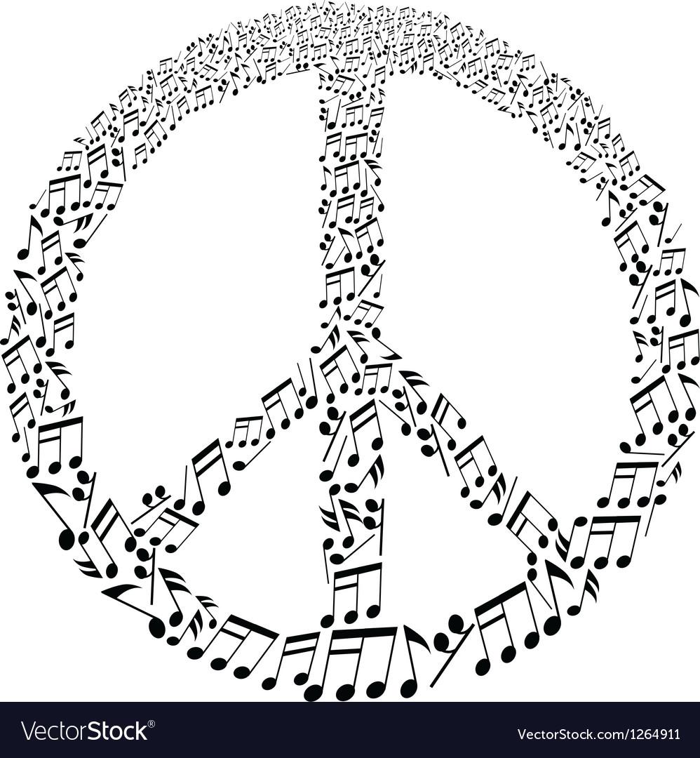 Musical peace symbol vector   Price: 1 Credit (USD $1)