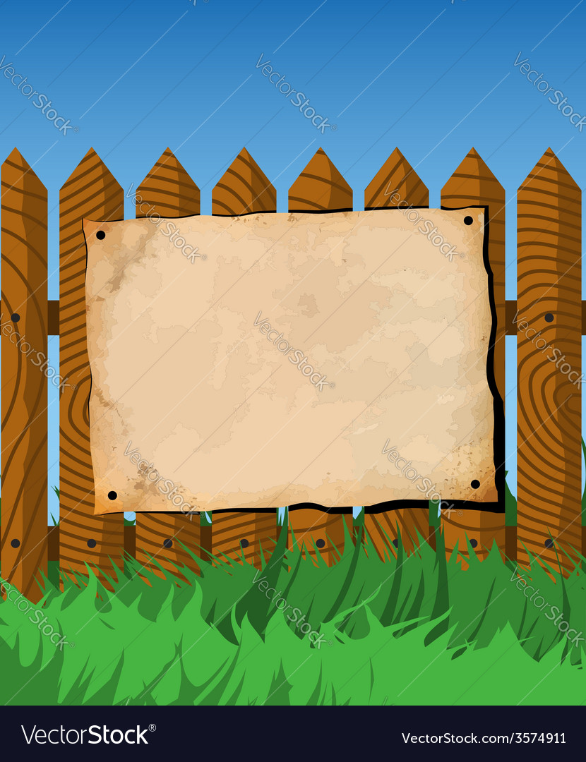 Poster on the fence vector | Price: 1 Credit (USD $1)