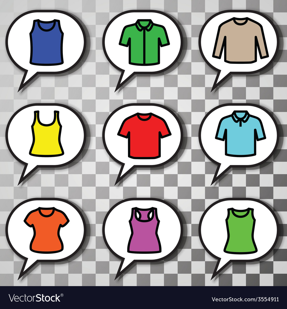 Set of t-shirts icon vector | Price: 1 Credit (USD $1)