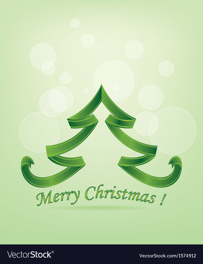Abstract green christmas tree vector | Price: 1 Credit (USD $1)