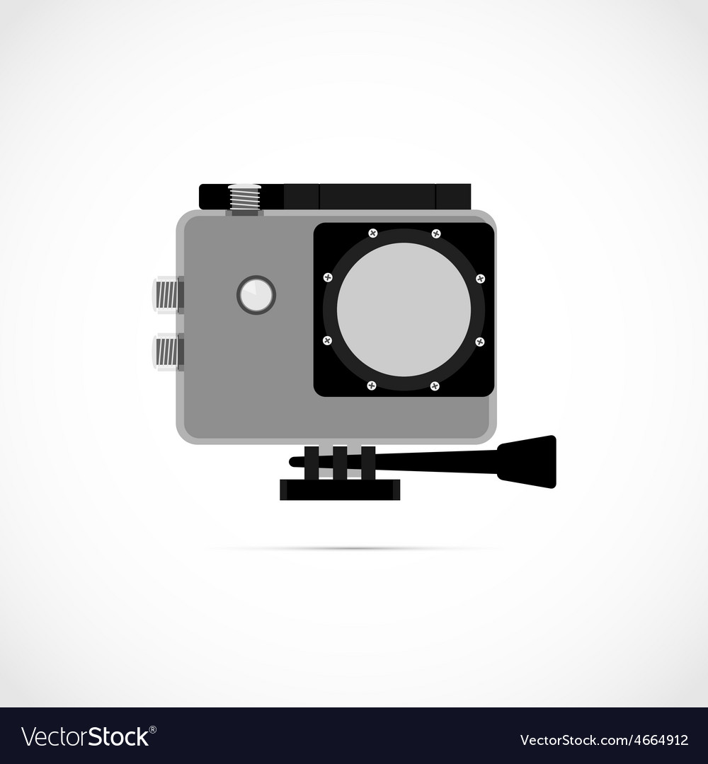 Extreme action video digital camera vector | Price: 1 Credit (USD $1)