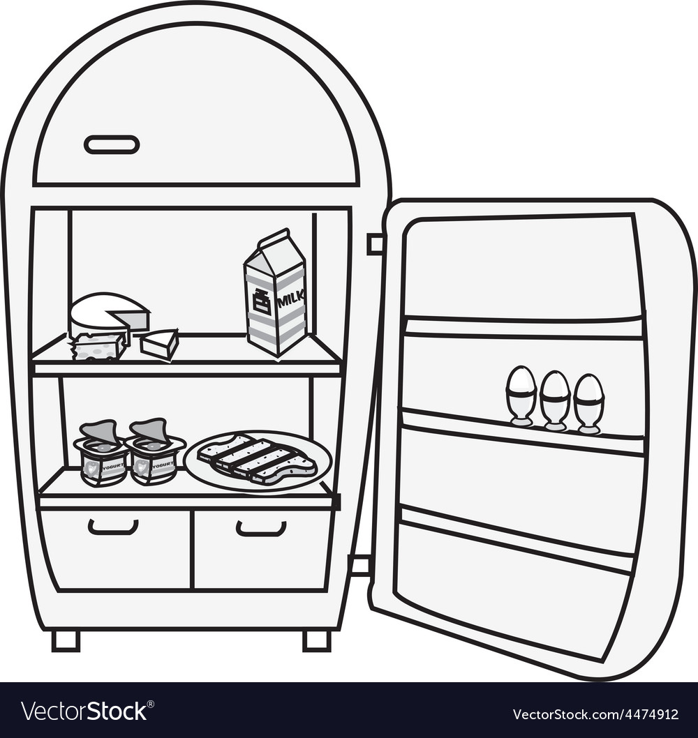 Fridge design vector | Price: 1 Credit (USD $1)