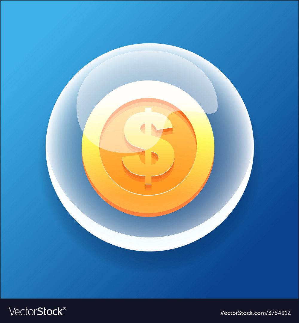 Gameiconbubblegoldcoinmoneybonus vector | Price: 1 Credit (USD $1)