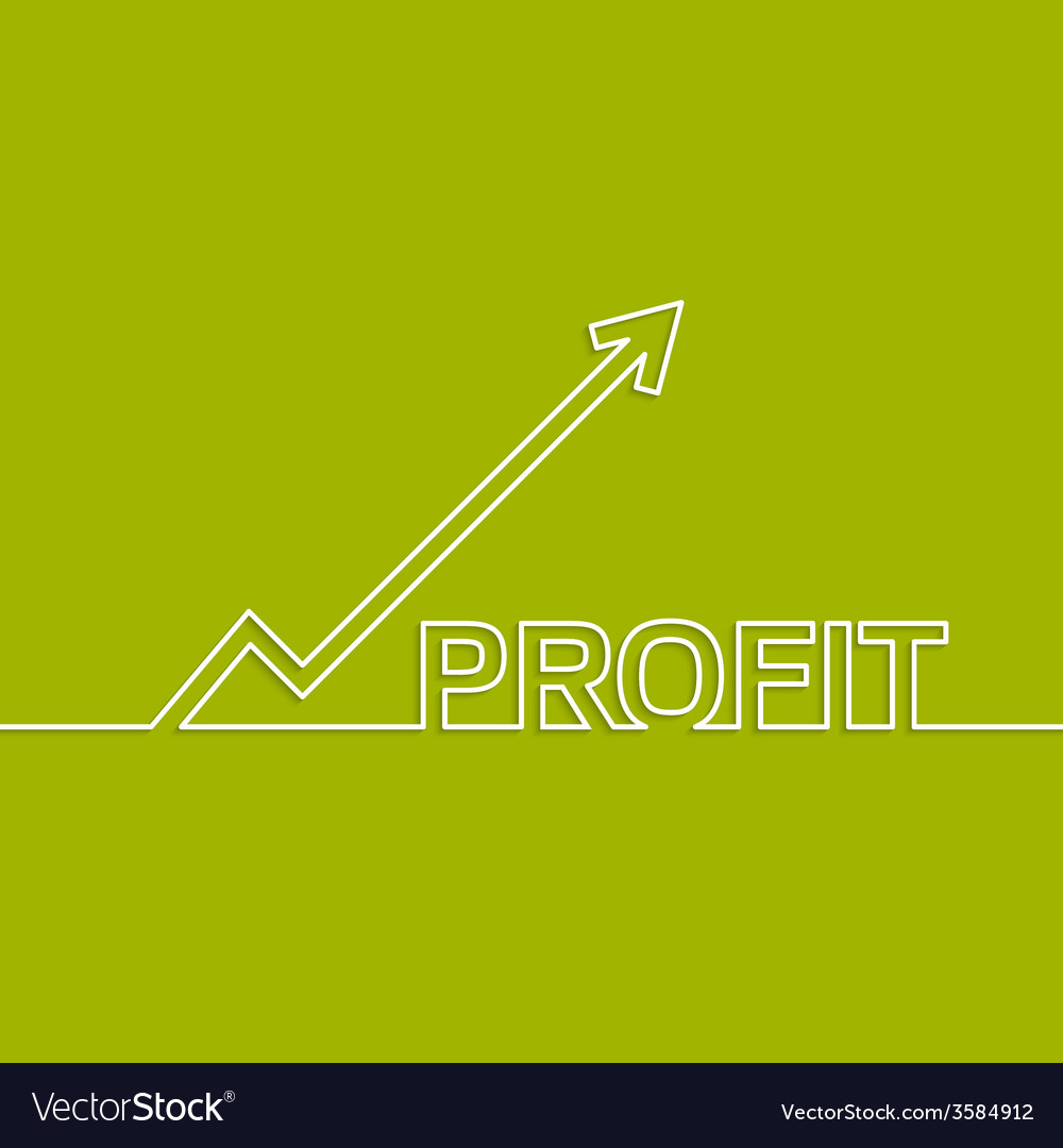 The graph shows the growth and profit vector | Price: 1 Credit (USD $1)