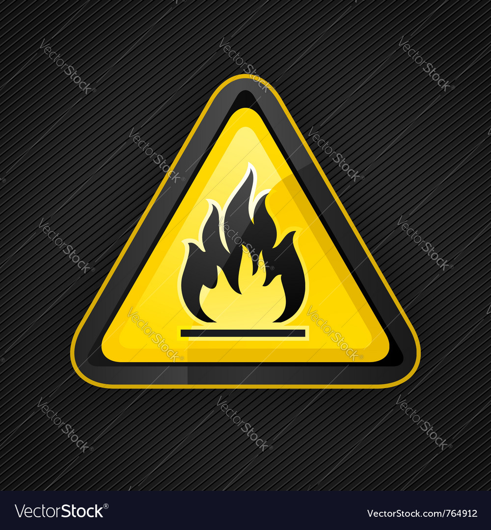 Hazard flammable warning vector | Price: 1 Credit (USD $1)