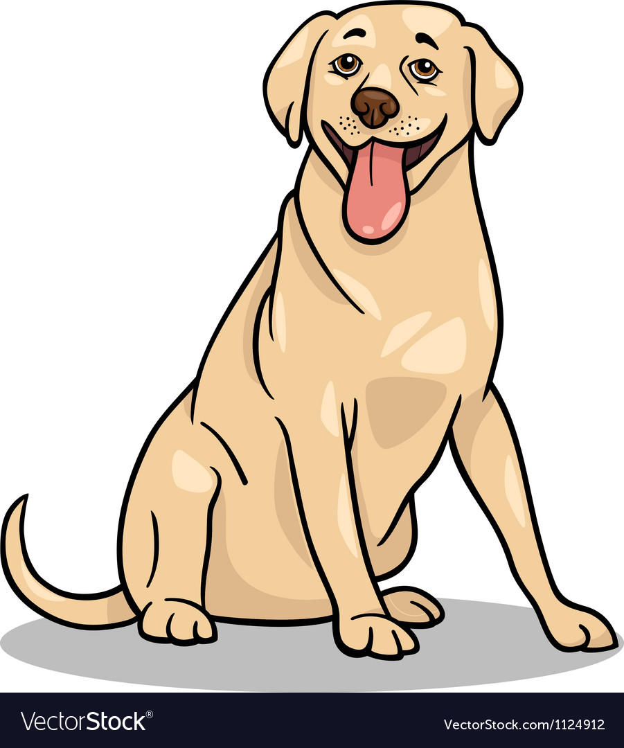 Labrador retriever dog cartoon vector | Price: 1 Credit (USD $1)