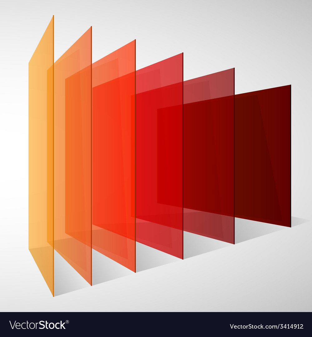 Perspective colorful abstract rectangles on white vector | Price: 1 Credit (USD $1)