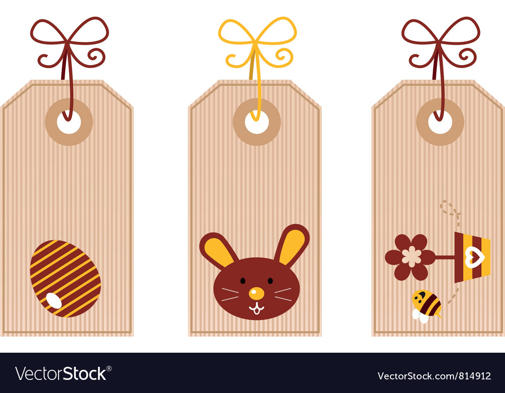 Retro easter labels vector | Price: 1 Credit (USD $1)