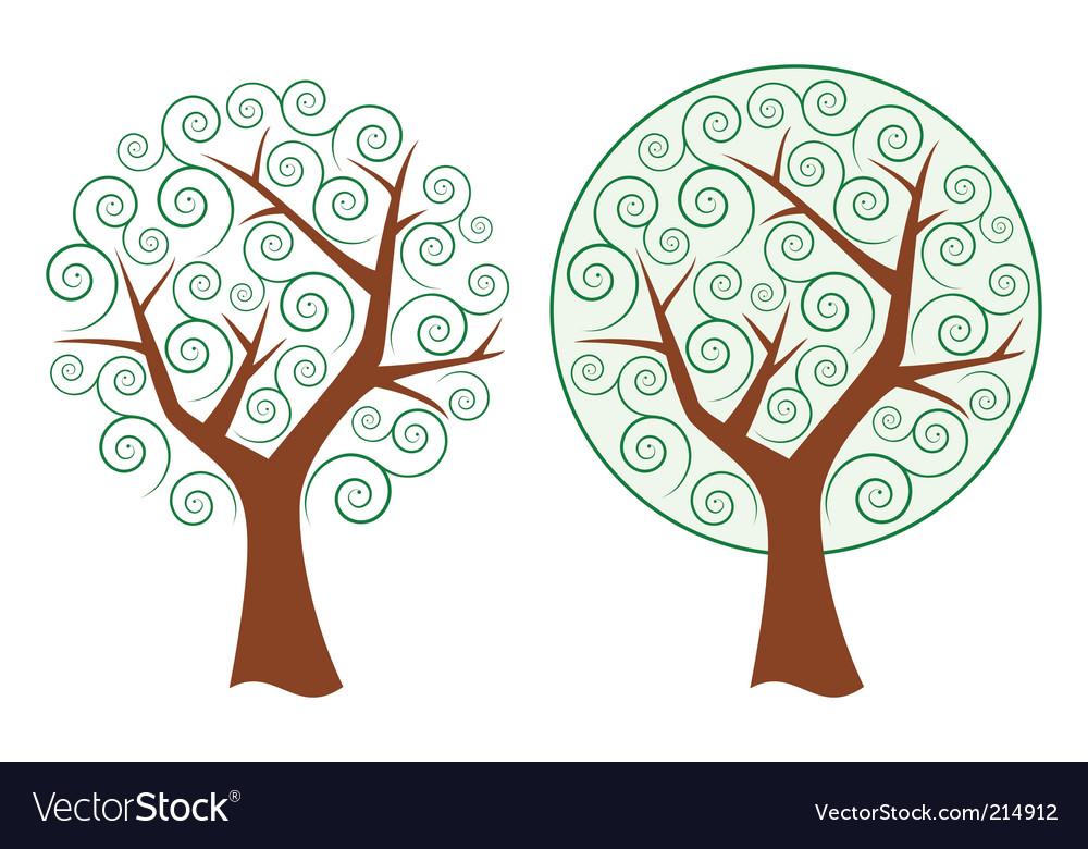 Swirly tree vector | Price: 1 Credit (USD $1)