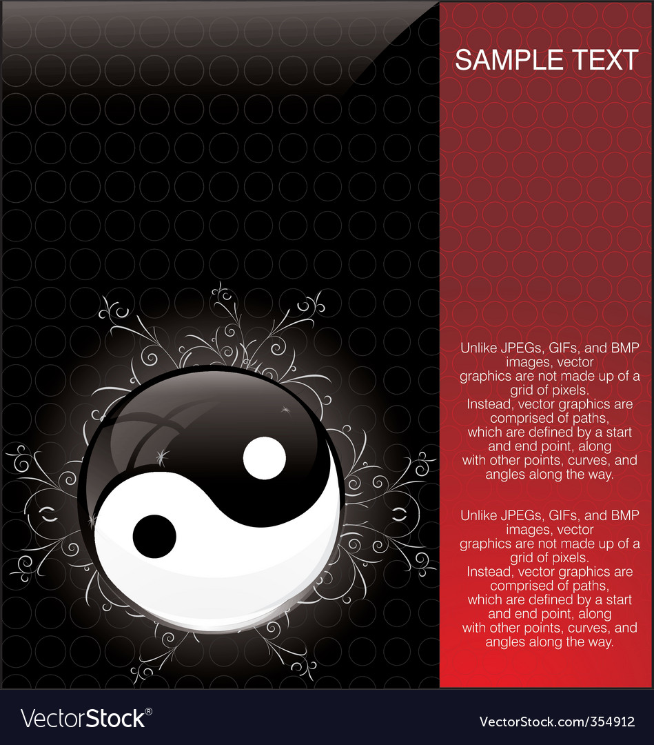Yin yang background vector | Price: 1 Credit (USD $1)