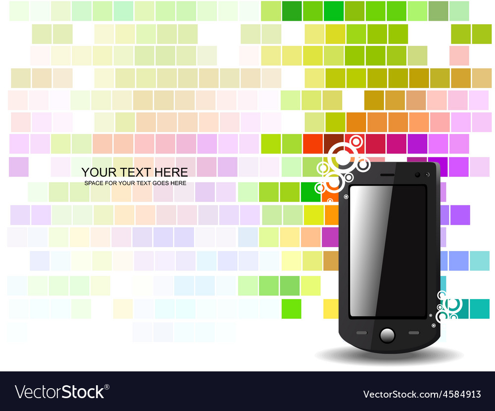 Abstract phone vector | Price: 1 Credit (USD $1)