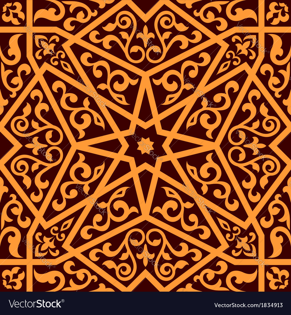 Arabian seamless pattern with a central star vector | Price: 1 Credit (USD $1)