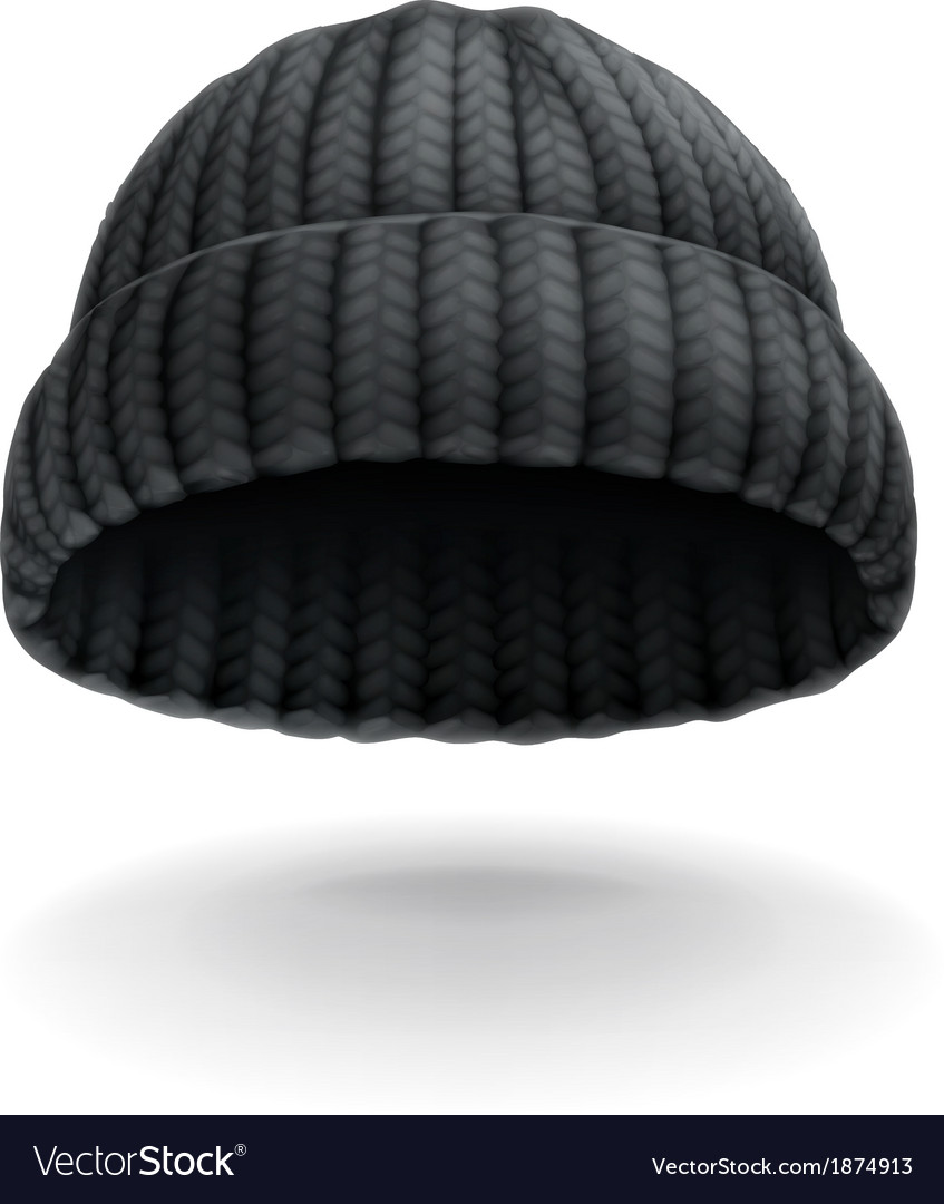Beanie black cap icon vector | Price: 1 Credit (USD $1)