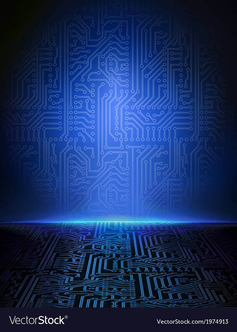 Blue electronic background vector | Price: 1 Credit (USD $1)