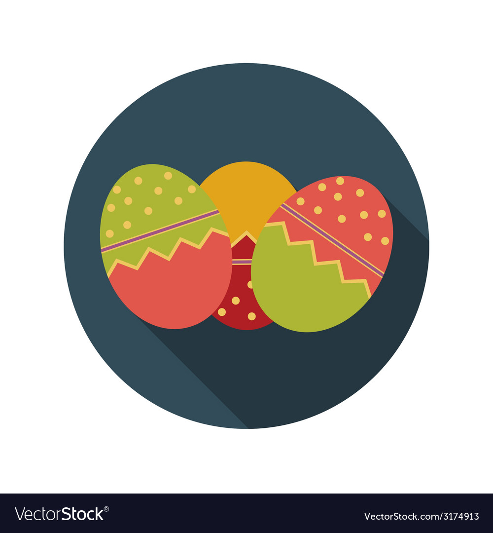 Flat design concept of easter eggs with long vector | Price: 1 Credit (USD $1)