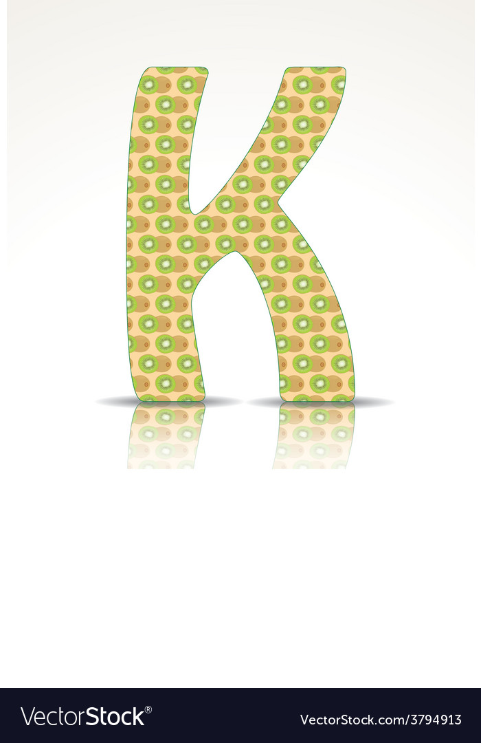 The letter k of the alphabet made of kiwi vector | Price: 1 Credit (USD $1)
