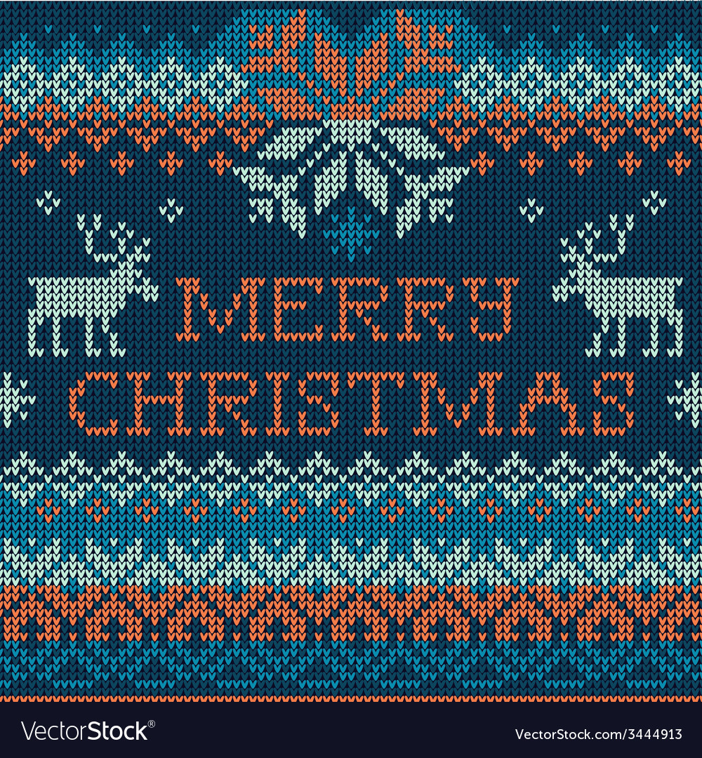 Merry christmas scandinavian style seamless vector | Price: 1 Credit (USD $1)