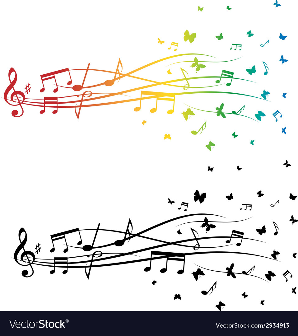 Music notes set vector   Price: 1 Credit (USD $1)