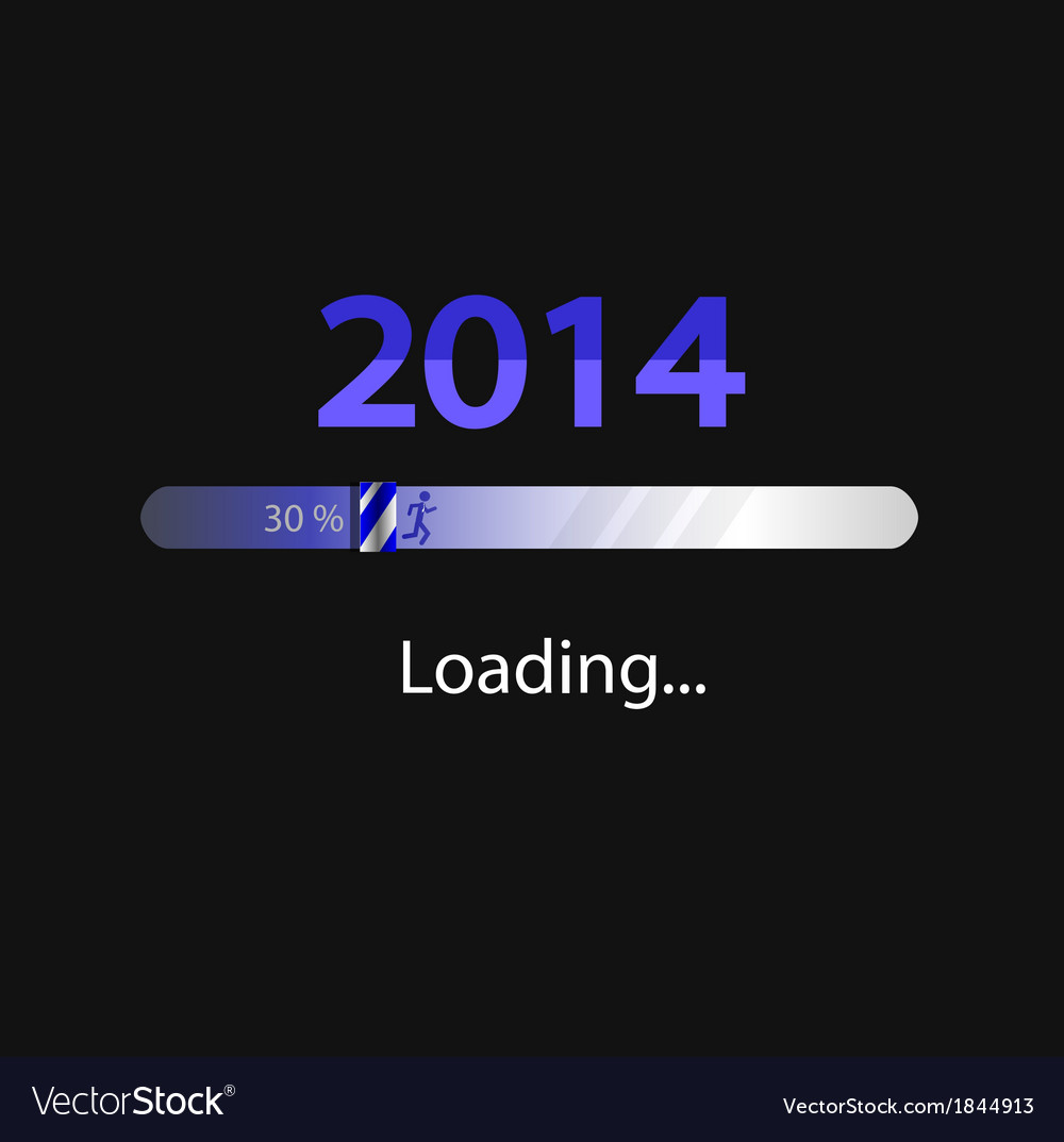 New year 2014 loading background vector | Price: 1 Credit (USD $1)
