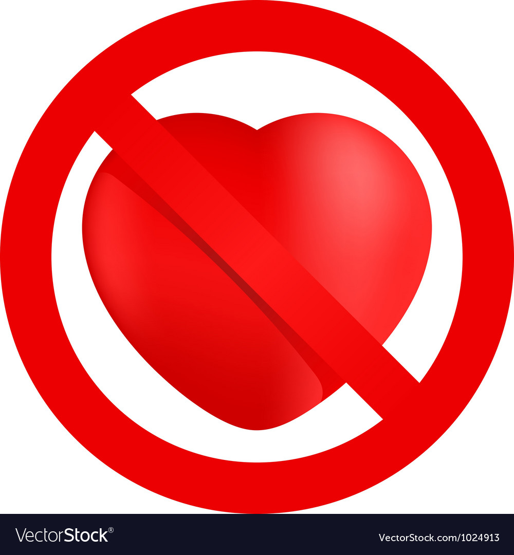 No loving sign vector | Price: 1 Credit (USD $1)