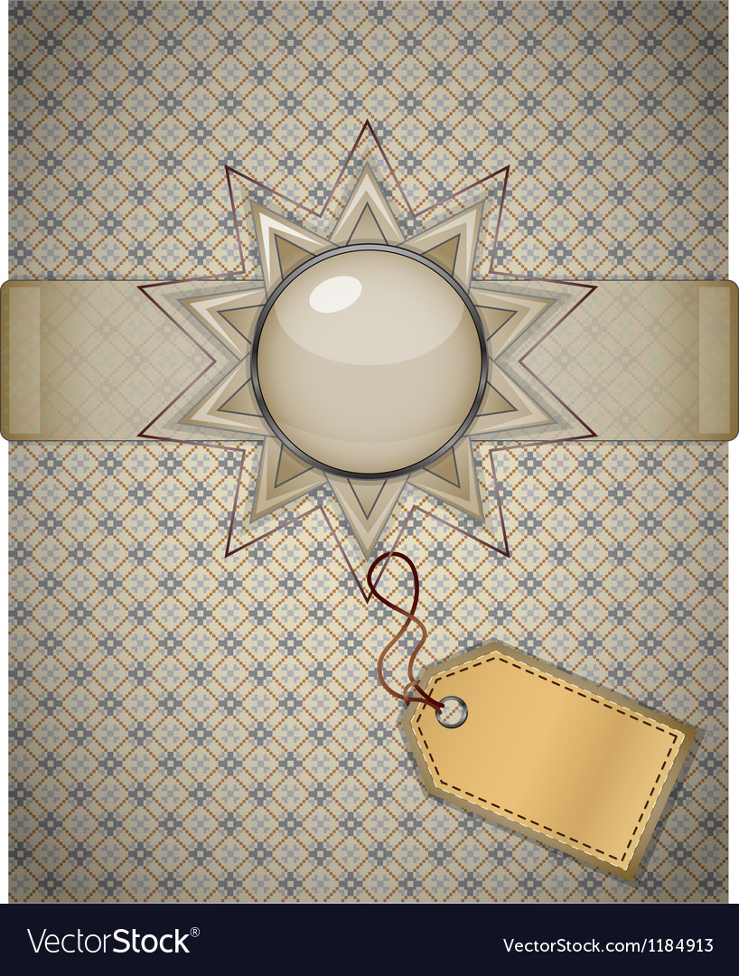 Retro background with ornament vector   Price: 1 Credit (USD $1)
