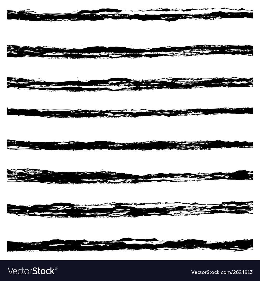 Set of black brush strokes vector | Price: 1 Credit (USD $1)