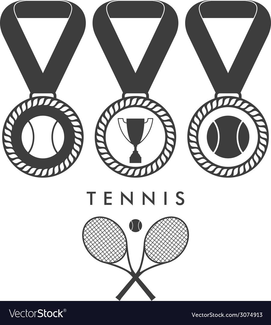 Tennis award vector