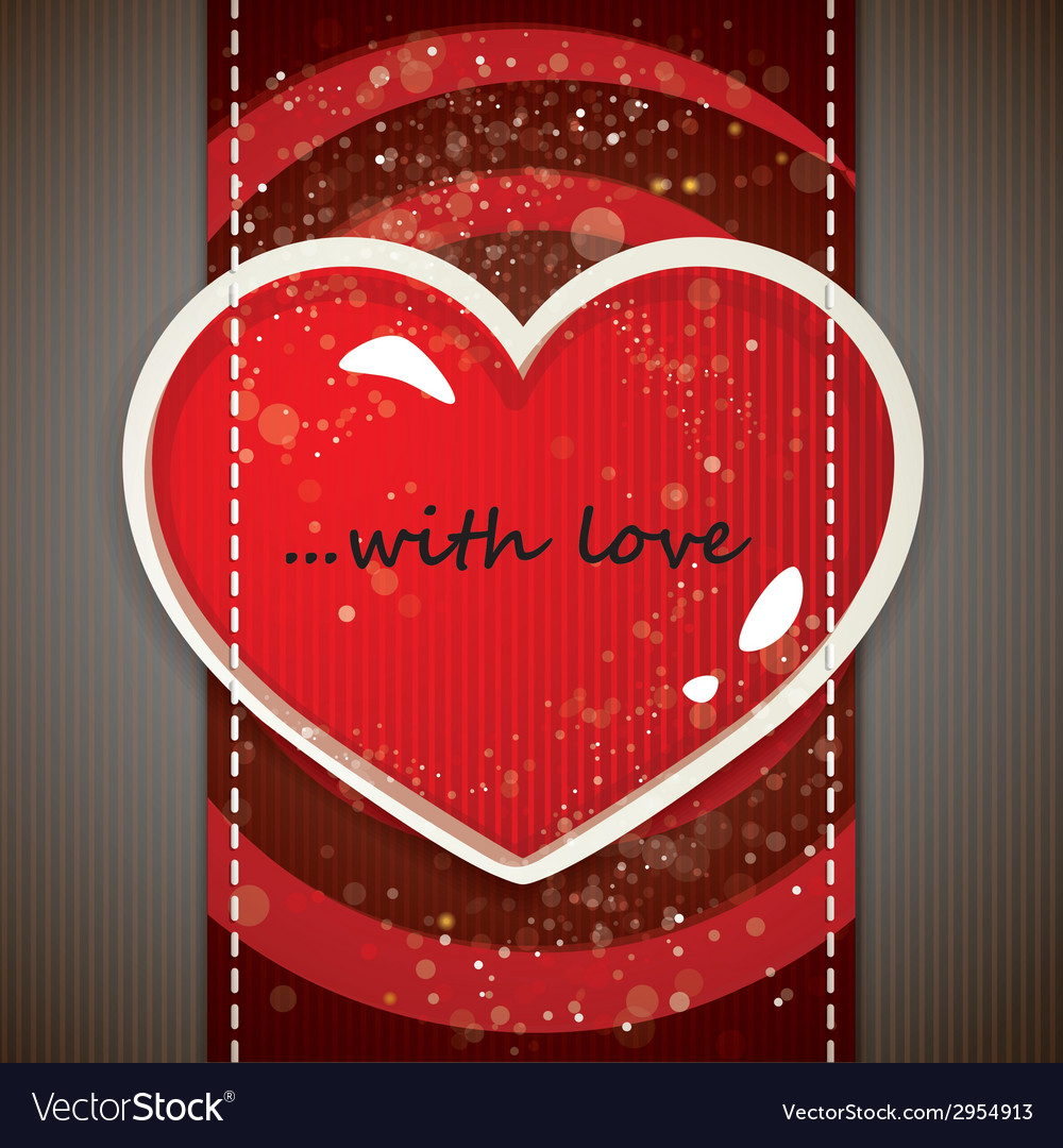 The valentines day card vector | Price: 1 Credit (USD $1)