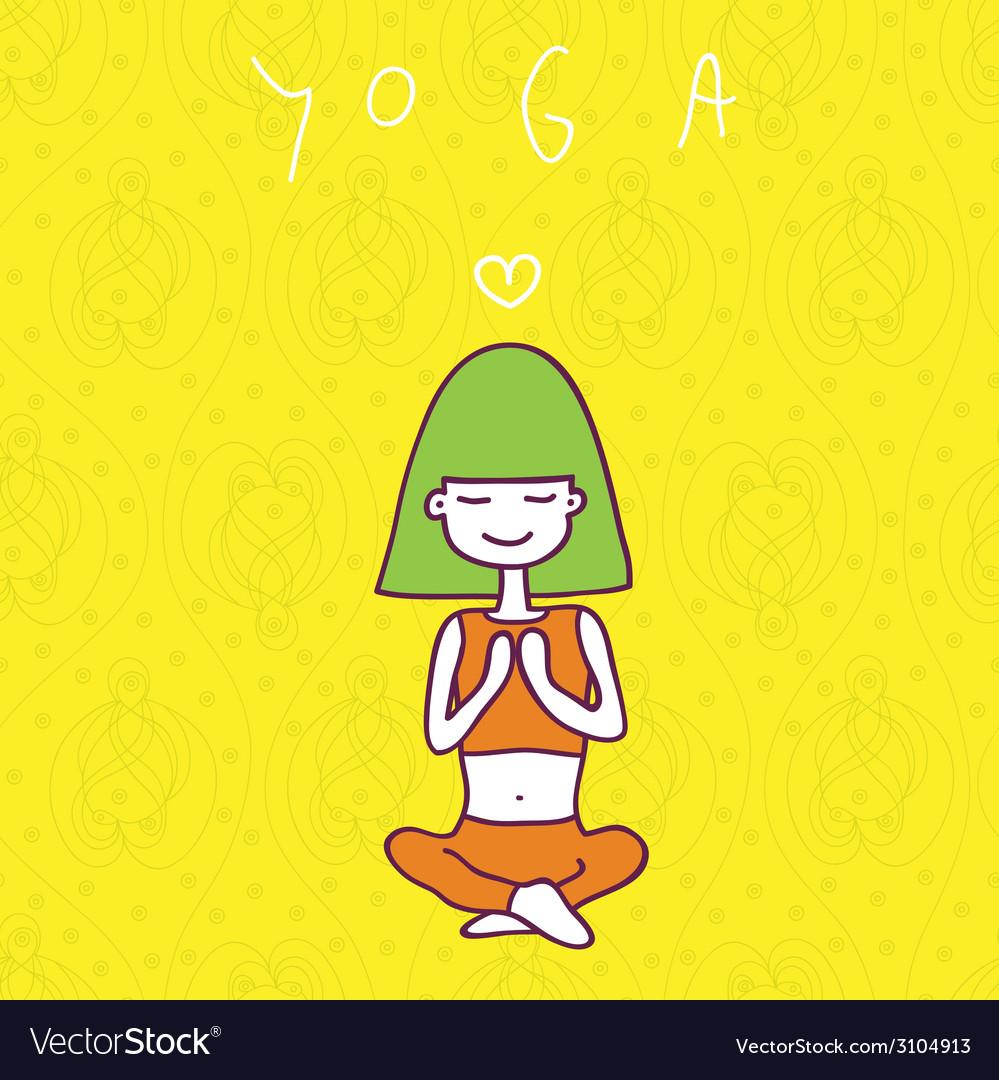 Yoga vector   Price: 1 Credit (USD $1)