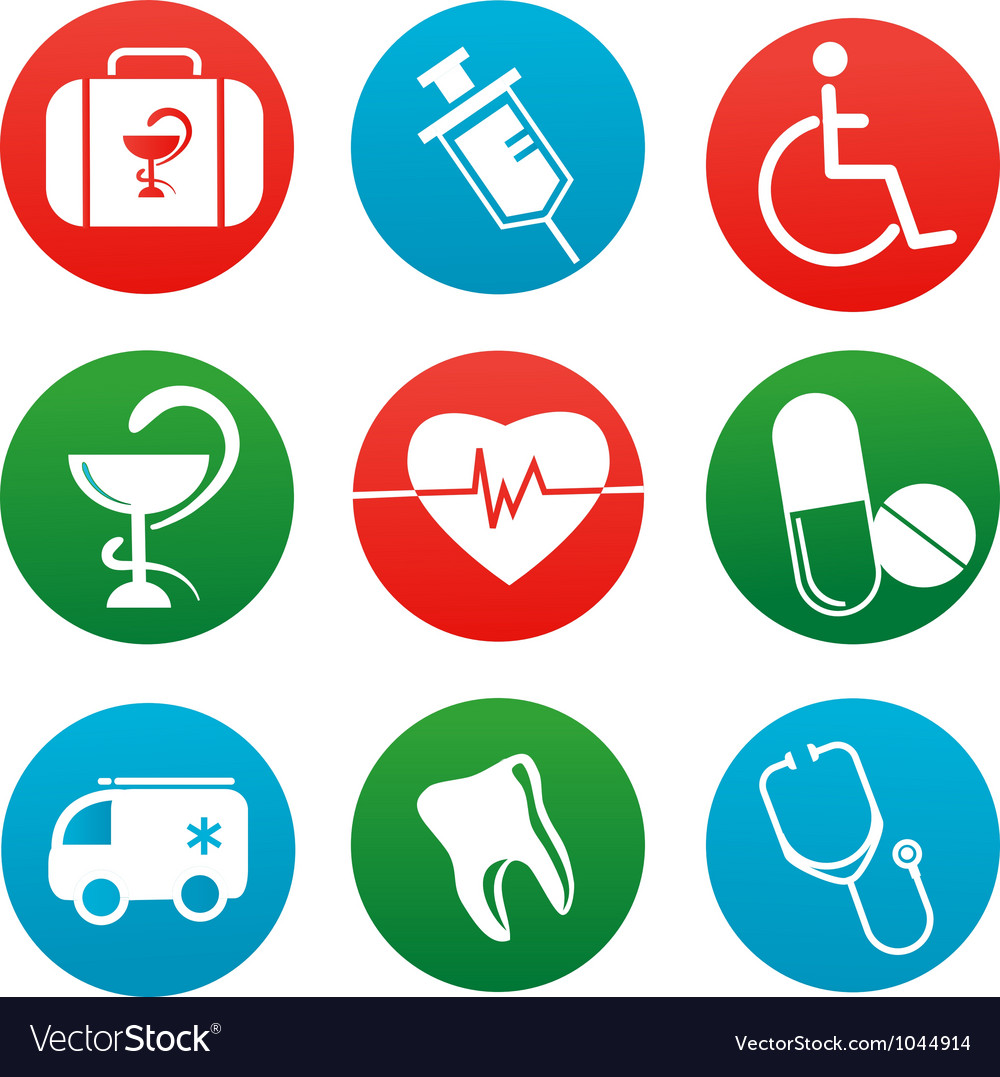 Background with medicine icons and elements vector | Price: 1 Credit (USD $1)