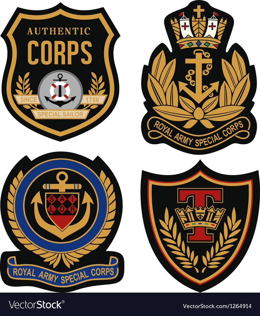 Emblem badge shield vector | Price: 1 Credit (USD $1)
